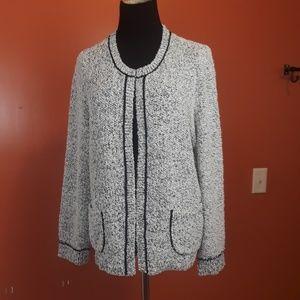 LOFT knit fuzzy cardigan size XL